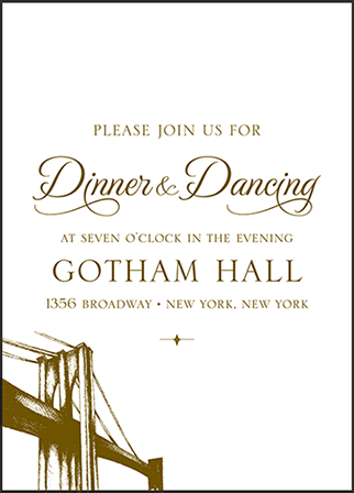Classic Manhattan Letterpress Reception Design Medium