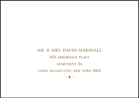 Classic Manhattan Letterpress Reply Envelope Design Medium