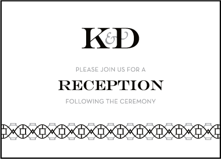Classic Monogram Letterpress Reception Design Medium