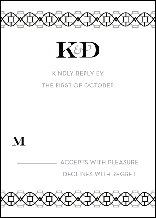 Classic Monogram Letterpress Reply Design Medium