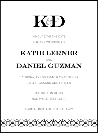 Classic Monogram Letterpress Save The Date Design Medium