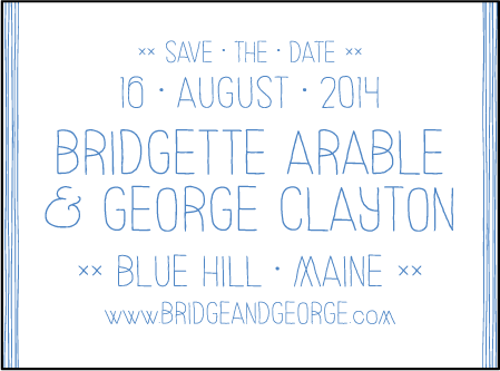 Classic Stitch Letterpress Save The Date Design Medium