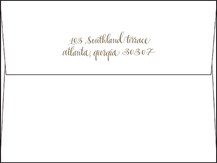 Colette Letterpress Envelope Design Medium