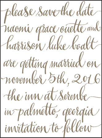 Colette Letterpress Save The Date Design Medium