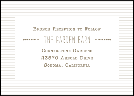 Collection Letterpress Reception Design Medium