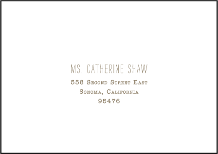 Collection Letterpress Reply Envelope Design Medium