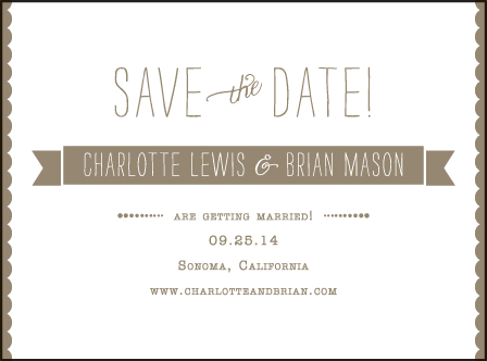 Collection Letterpress Save The Date Design Medium