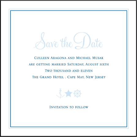 Commodore Letterpress Save The Date Design Medium