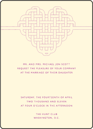 Connected Letterpress Invitation Design Medium