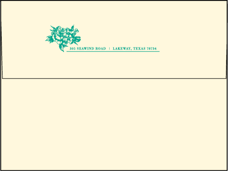 Conservatory Letterpress Envelope Design Medium