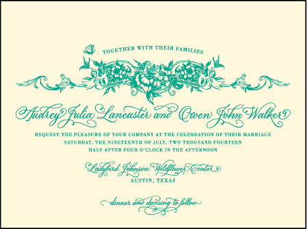 Conservatory Letterpress Invitation Design Medium