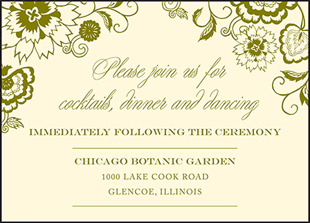 Coriander Letterpress Reception Design Medium