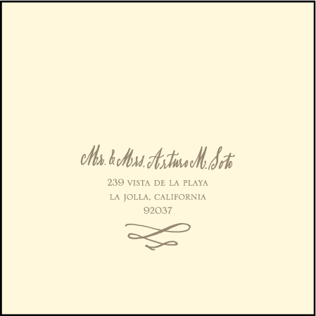 Coronado Letterpress Reply Envelope Design Medium