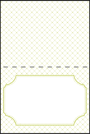 Cotillion Letterpress Placecard Fold Design Medium
