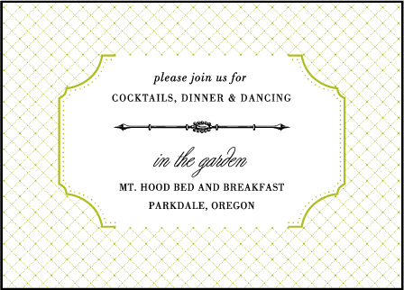 Cotillion Letterpress Reception Design Medium