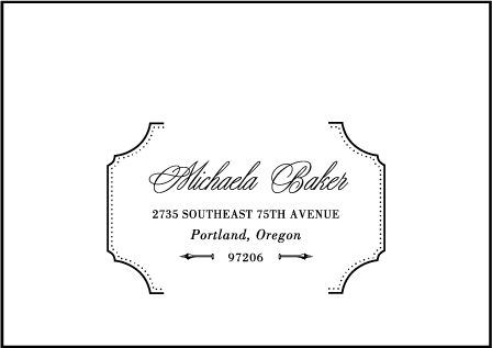 Cotillion Letterpress Reply Envelope Design Medium