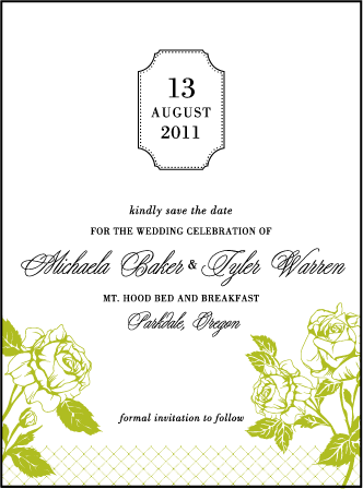 Cotillion Letterpress Save The Date Design Medium