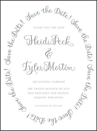 Credence Letterpress Save The Date Design Medium