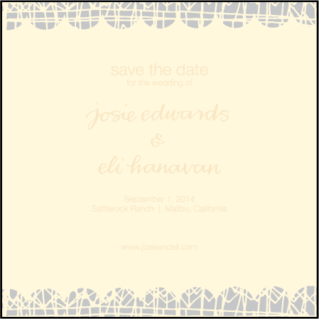 Dada Letterpress Save The Date Design Medium