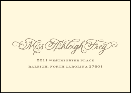 Damask Letterpress Reply Envelope Design Medium