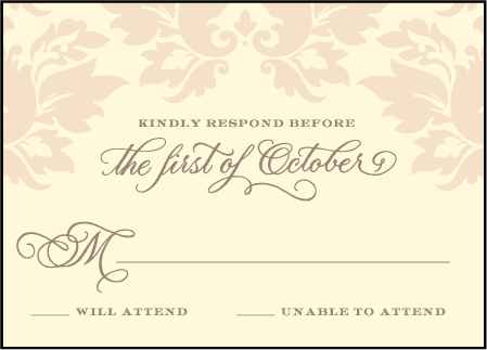 Damask Letterpress Reply Design Medium