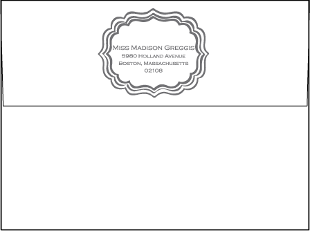 Darla Letterpress Envelope Design Medium