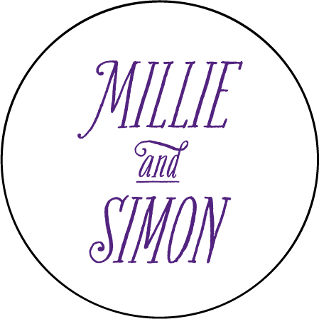 Darling Millie Letterpress Coaster Design Medium