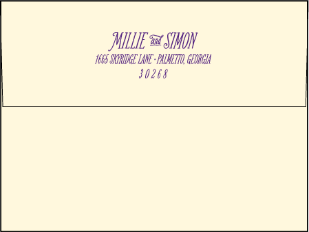Darling Millie Letterpress Envelope Design Medium