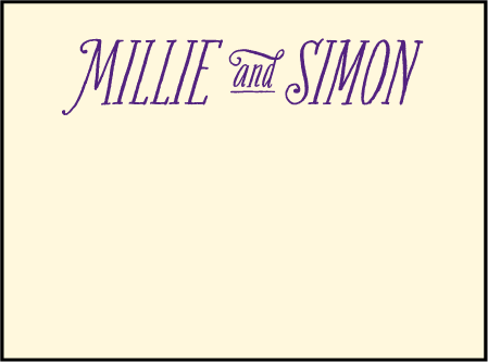 Darling Millie Letterpress Placecard Flat Design Medium