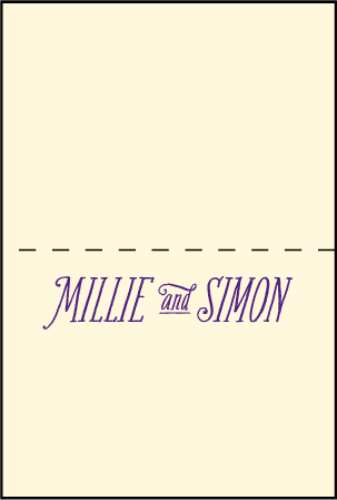 Darling Millie Letterpress Placecard Fold Design Medium