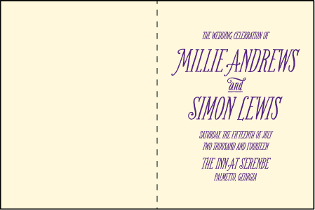 Darling Millie Letterpress Program Design Medium