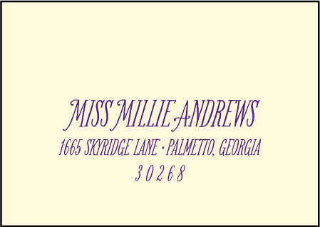 Darling Millie Letterpress Reply Envelope Design Medium