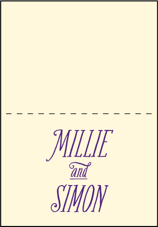 Darling Millie Letterpress Thank You Card Fold Design Medium