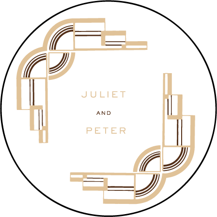 Deco Letterpress Coaster Design Medium
