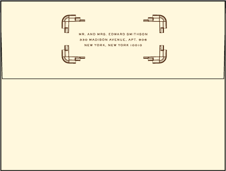 Deco Letterpress Envelope Design Medium