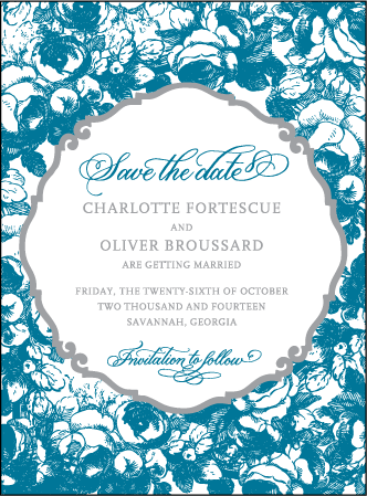 Delambre Classic Letterpress Save The Date Design Medium