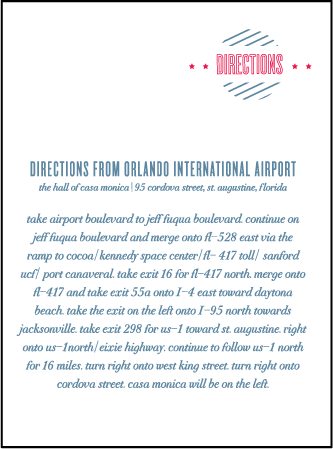 Destination Post Letterpress Direction Design Medium