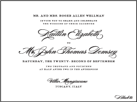 Deveril Letterpress Invitation Design Medium