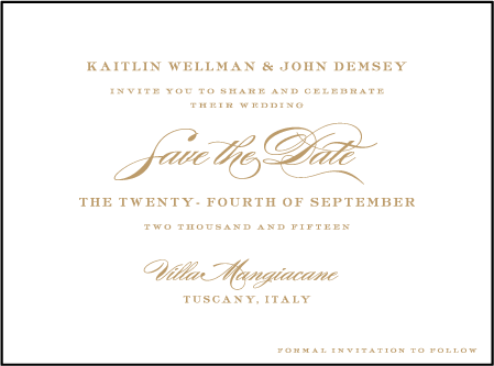 Deveril Letterpress Save The Date Design Medium
