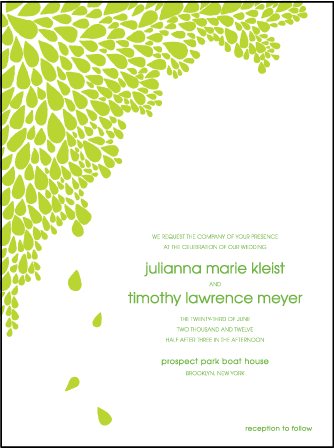 Dewdrop Letterpress Invitation Design Medium