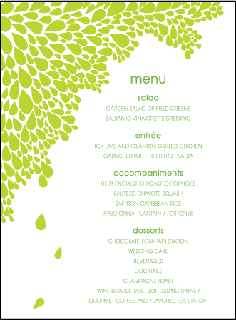 Dewdrop Letterpress Menu Design Medium