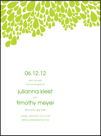 Dewdrop Letterpress Save The Date Design Medium