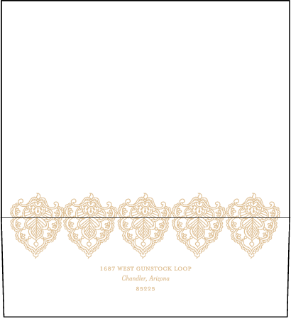 Divya Formal Letterpress Envelope Design Medium