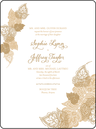 Divya Formal Letterpress Invitation Design Medium