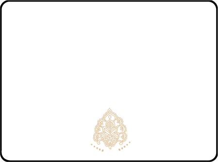 Divya Formal Letterpress Placecard Flat Design Medium