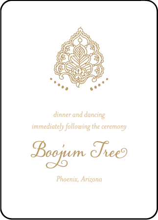 Divya Formal Letterpress Reception Design Medium