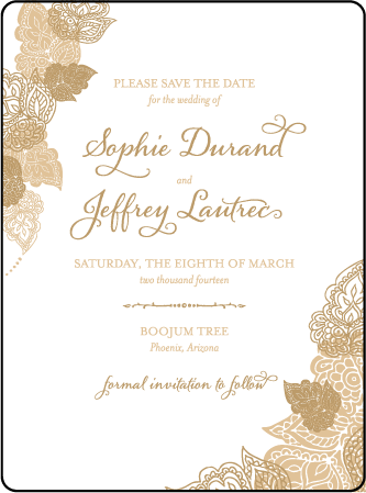Divya Formal Letterpress Save The Date Design Medium