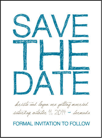 Drawing Room Letterpress Save The Date Design Medium
