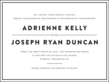 Duncan Letterpress Invitation Design Medium