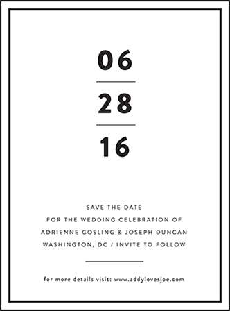 Duncan Letterpress Save The Date Design Medium